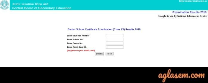 CBSE 12 Class Result 2019 Login
