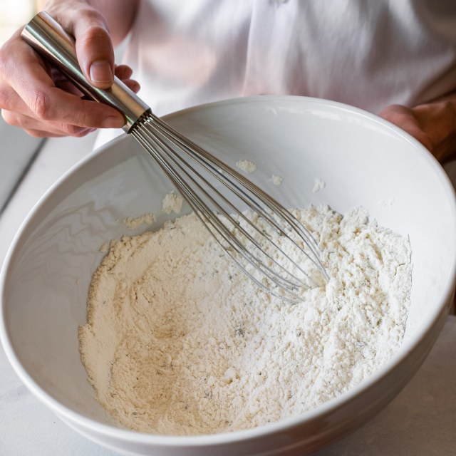 whisking the dry ingredients together