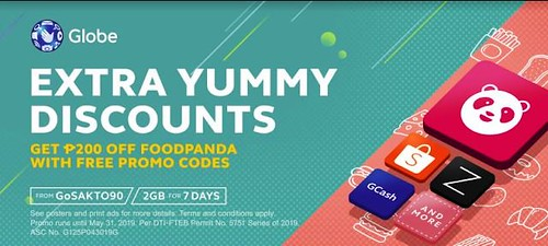 Get FREE Promo Codes from Globe Prepaid GoSAKTO90 - Food