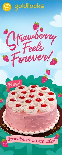 Goldilocks Mother's Day Themed Cakes Strawberry Cream Cake
