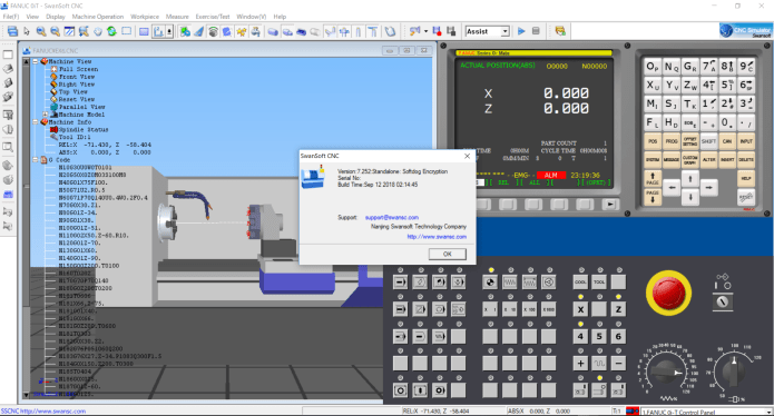 working with Nanjing Swansoft SSCNC Simulator 7.2.5.2 full