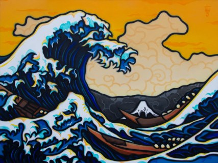 Hokusai's Tsunami Redux