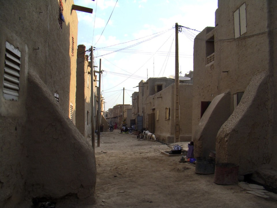 Mali calles de ciudad de Mopti 06