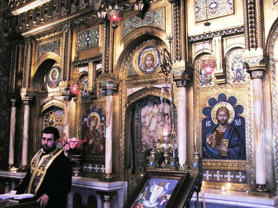 iconostasio interior iglesia Monasterio de Curtea de Arges Moldavia Rumania 11