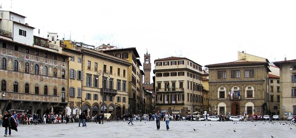 Piazza Plaza de la Santa Cruz Florencia La Toscana Italia 24