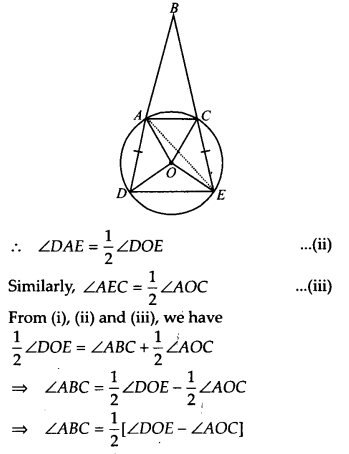 NCERT Solutions for Class 9 Maths Chapter 10 Circles Ex 10.6 A4