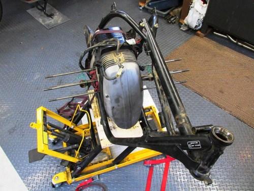 Frame Orientation Prior to Removing Engine
