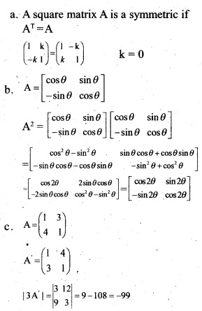 Plus Two Maths Chapter Wise Previous Questions Chapter 3 Matrices 5