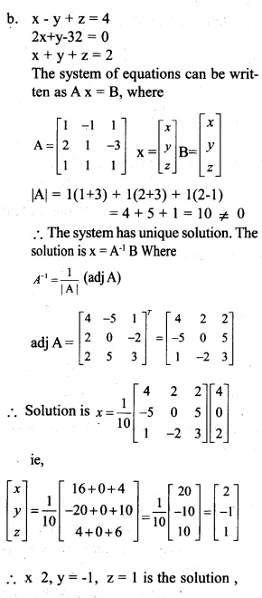 Plus Two Maths Chapter Wise Previous Questions Chapter 4 Determinants 4