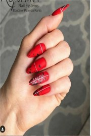 awesome red gel nail ideas