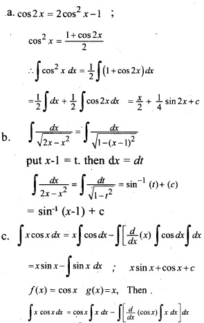Plus Two Maths Chapter Wise Previous Questions Chapter 7 Integrals 16