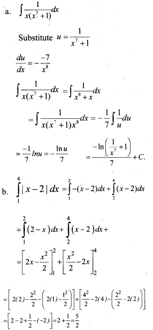 Plus Two Maths Chapter Wise Previous Questions Chapter 7 Integrals 10