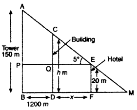 RBSE Solutions for Class 10 Maths Chapter 8 Height and Distance 3Q.13.1