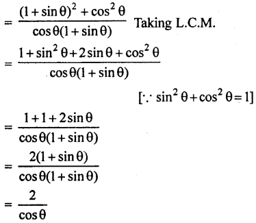RBSE Solutions for Class 10 Maths Chapter 7 Trigonometric Identities Q.9