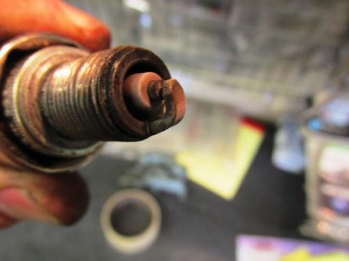 Spark Plug Insulator Detail