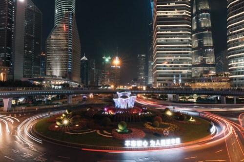 Roundabout in Lujiazui (陸家嘴), Shanghai