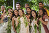 Eleven new kauka (doctors) are cloaked in their personally-decorated kīhei at the 2019 Kihei Ceremony for Native Hawaiian doctors.