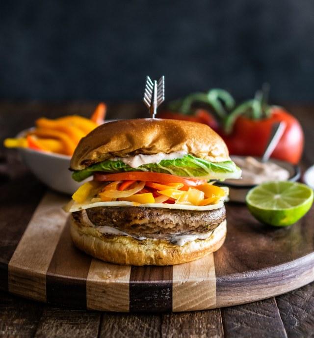 the best portobello burger we've ever tasted