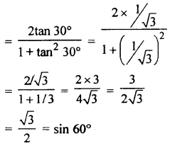 RBSE Solutions for Class 10 Maths Chapter 6 Trigonometric Ratios Q.7.2