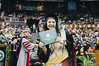 The University of Hawaii at Manoa celebrated at the spring 2019 commencement ceremony on May 11, 2019. Ashley Morisako proudly displays her diploma.
