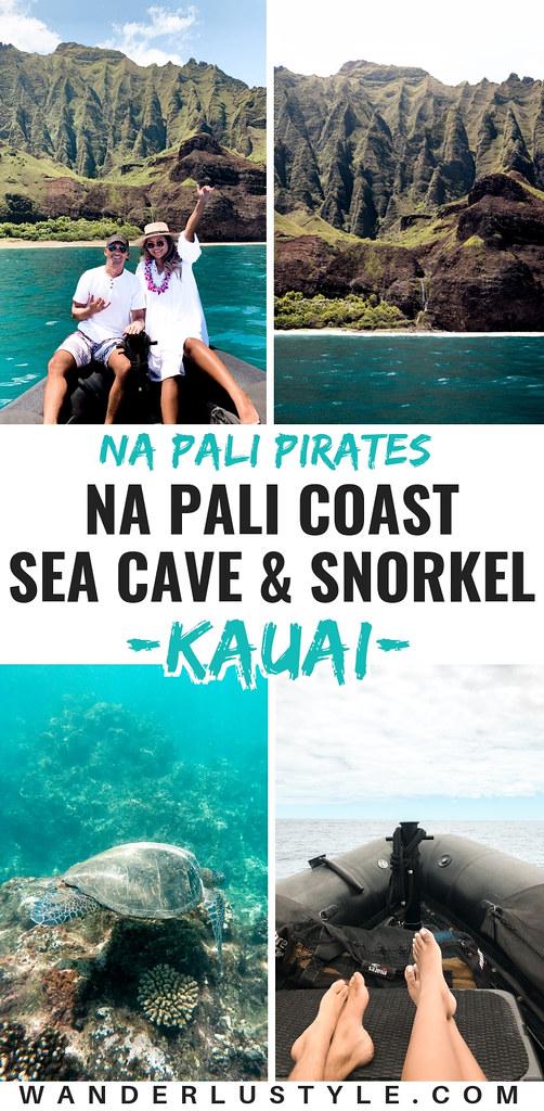 Na Pali Coast Sea Cave and Snorkel with Na Pali Pirates - Kauai Things to do, Kauai Travel, Kauai Activities, Kauai Must do, Kauai Travel Tips, Na Pali Coast Tour, Na Pali Coast | Wanderlustyle.com