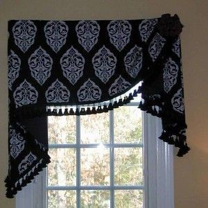 valance window scarf ideas with tassels