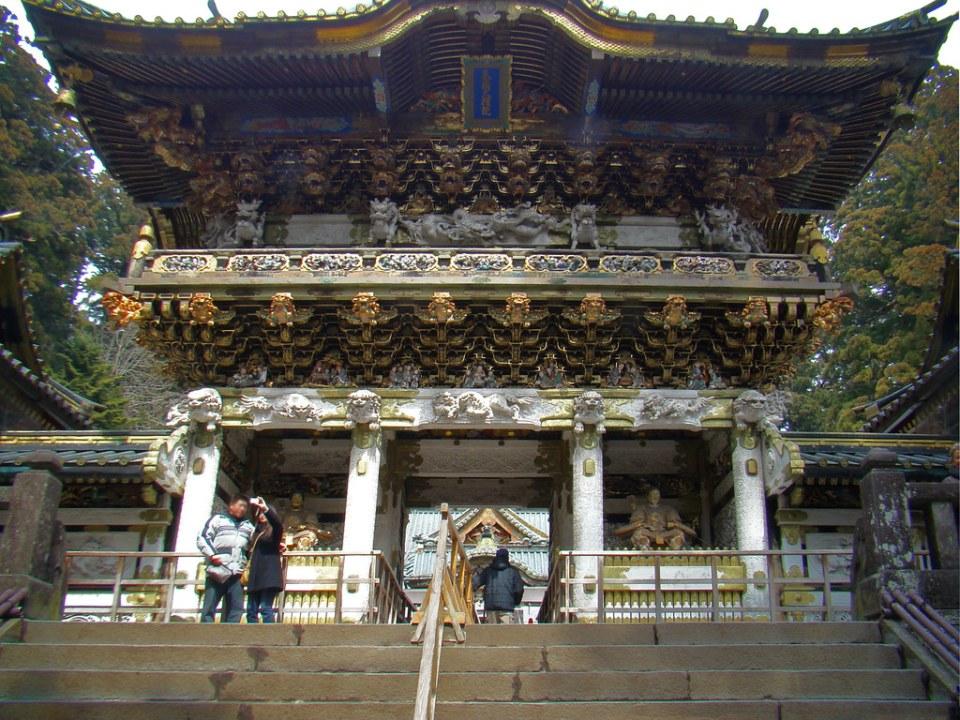 Puerta Yomeimon Puerta Principal de la Corte Imperial Santuario Toshogu Nikko Japon 15