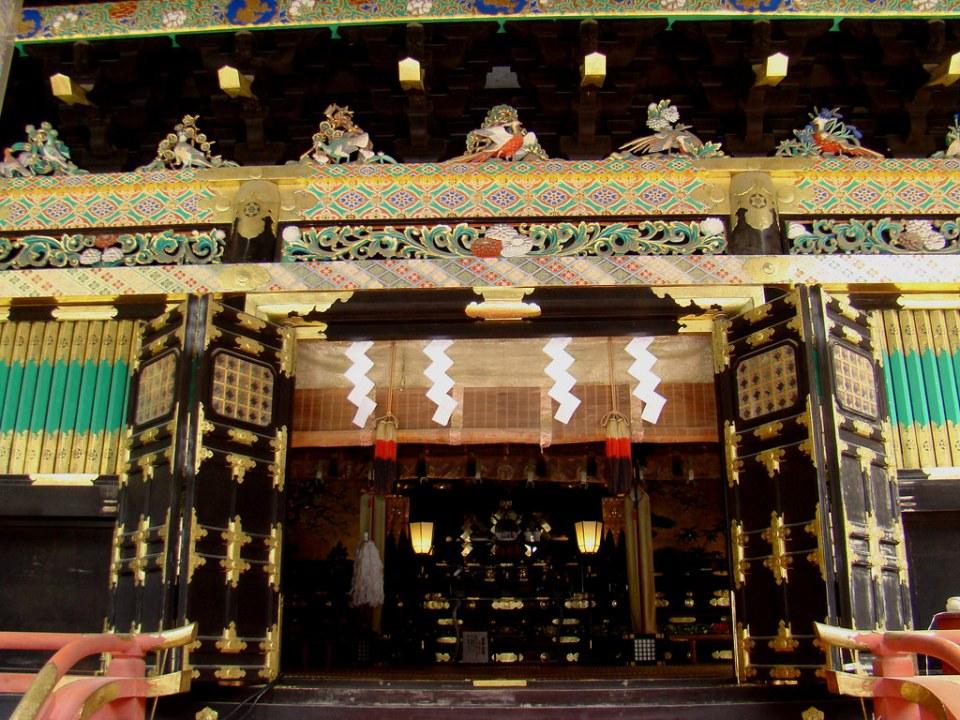 Kitoden sala de oración exterior Santuario Toshogu Nikko Japon 20