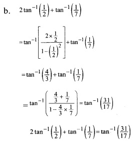 Plus Two Maths Chapter Wise Previous Questions Chapter 2 Inverse Trigonometric Functions 4