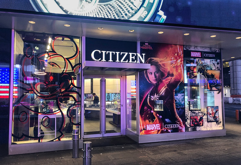 Marvel Window Display at Citizen Flagship Store