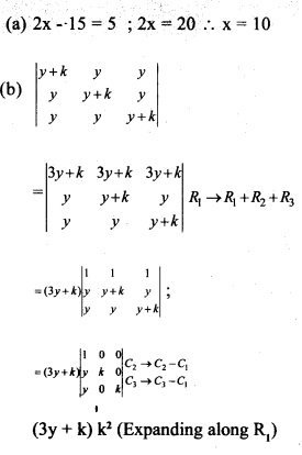 Plus Two Maths Chapter Wise Previous Questions Chapter 4 Determinants 14