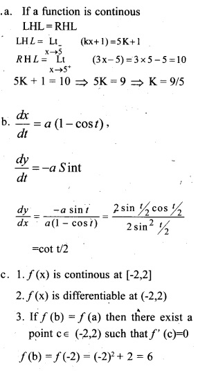 Plus Two Maths Chapter Wise Previous Questions Chapter 5 Continuity and Differentiability 18