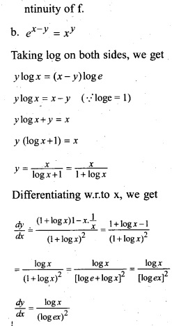 Plus Two Maths Chapter Wise Previous Questions Chapter 5 Continuity and Differentiability 12