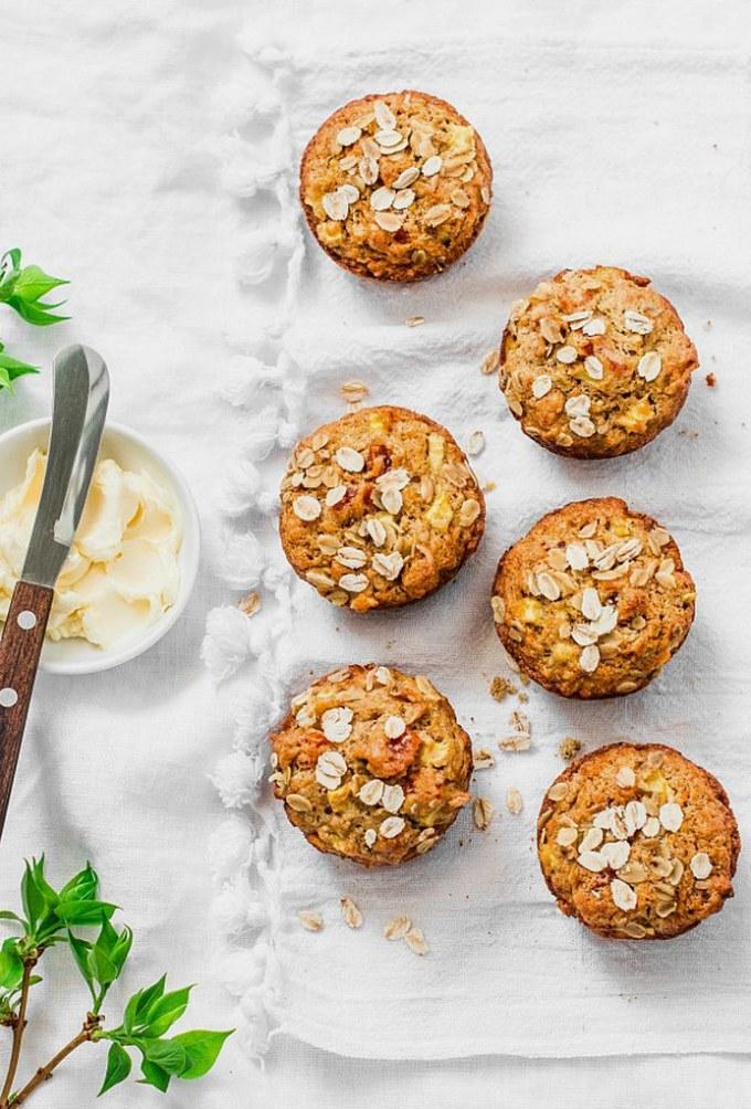 Carrot Ginger Walnut Muffins