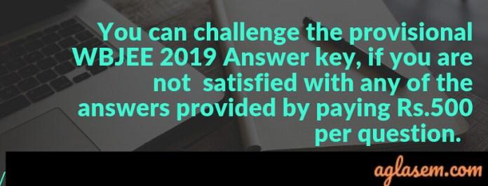 WBJEE 2019 Answer key