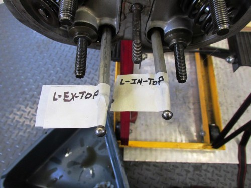 Push Rods Labeled Before Removing