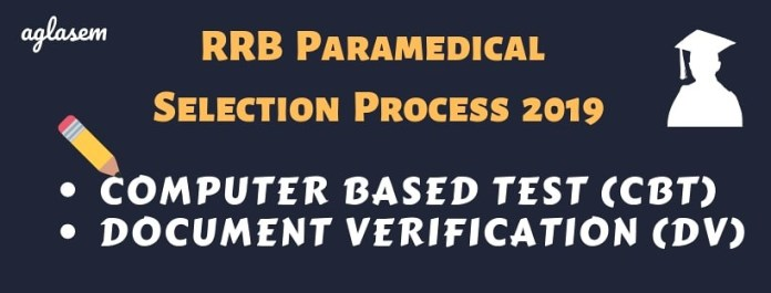 Selection Process for RRB Paramedical 2019