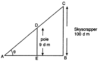 RBSE Solutions for Class 10 Maths Chapter 8 Height and Distance 2Q.2