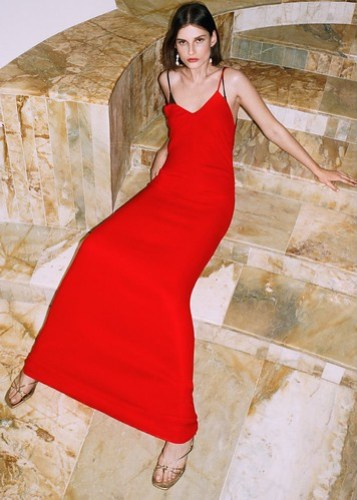 Vestido lencero Zara