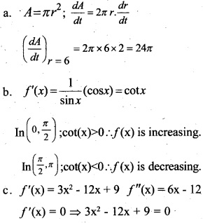 Plus Two Maths Chapter Wise Previous Questions Chapter 6 Application of Derivatives 17