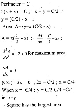 Plus Two Maths Chapter Wise Previous Questions Chapter 6 Application of Derivatives 20