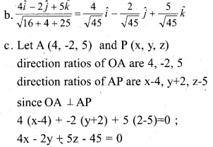 Plus Two Maths Chapter Wise Previous Questions Chapter 11 Three Dimensional Geometry 11
