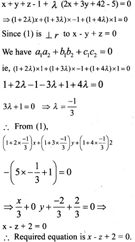 Plus Two Maths Chapter Wise Previous Questions Chapter 11 Three Dimensional Geometry 5