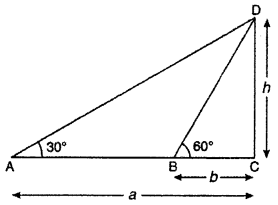 RBSE Solutions for Class 10 Maths Chapter 8 Height and Distance Q.7
