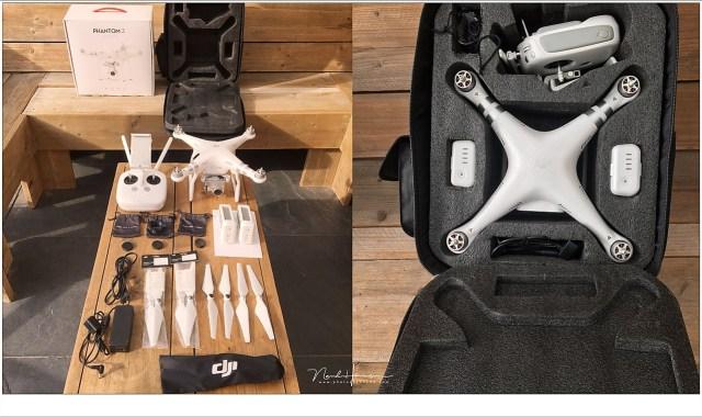 De DJI Phantom 3 Advanced is groot, en dus niet makkelijk samen met een gewone camera mee te nemen. je kunt immers maar één rugzak op je rug hangen.