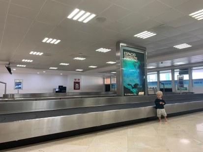 Empty luggage area