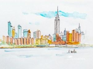 Simple New York Drawings 2