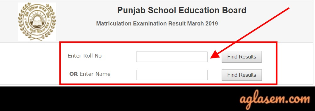 PSEB 10th Result 2019 Roll Number Wise