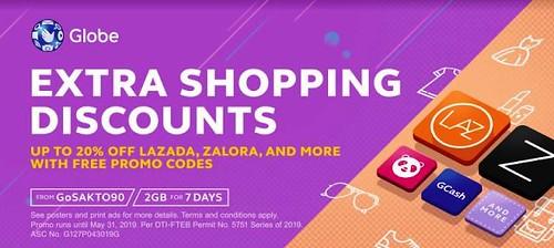 Get FREE Promo Codes from Globe Prepaid GoSAKTO90 - Shopping (Lazada)