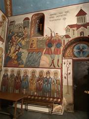 Fresco in Jvari Mamas church, Old Tbilisi